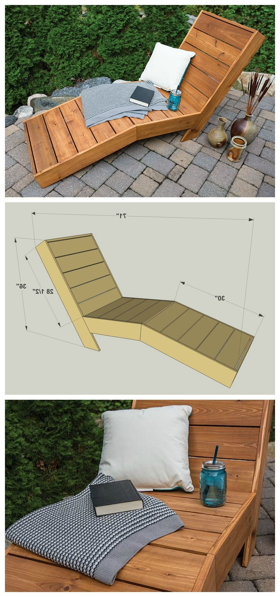 2017 Diy Chaise Lounges For Diy Outdoor Chaise Lounge :: Free Plans At Buildsomething (View 11 of 15)