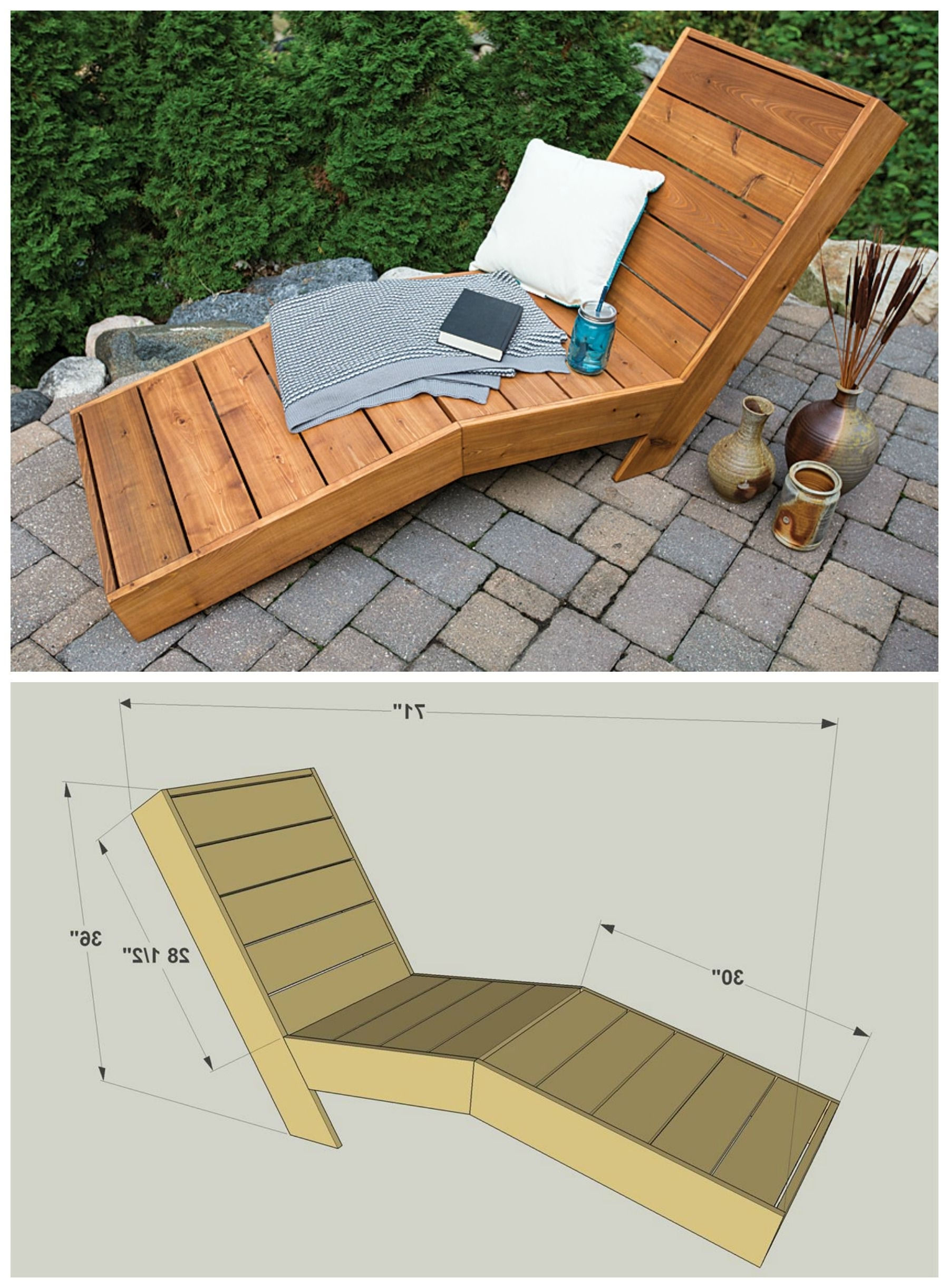 2017 Diy Outdoor Chaise Lounge :: Free Plans At Buildsomething In Diy Outdoor Chaise Lounge Chairs (View 1 of 15)