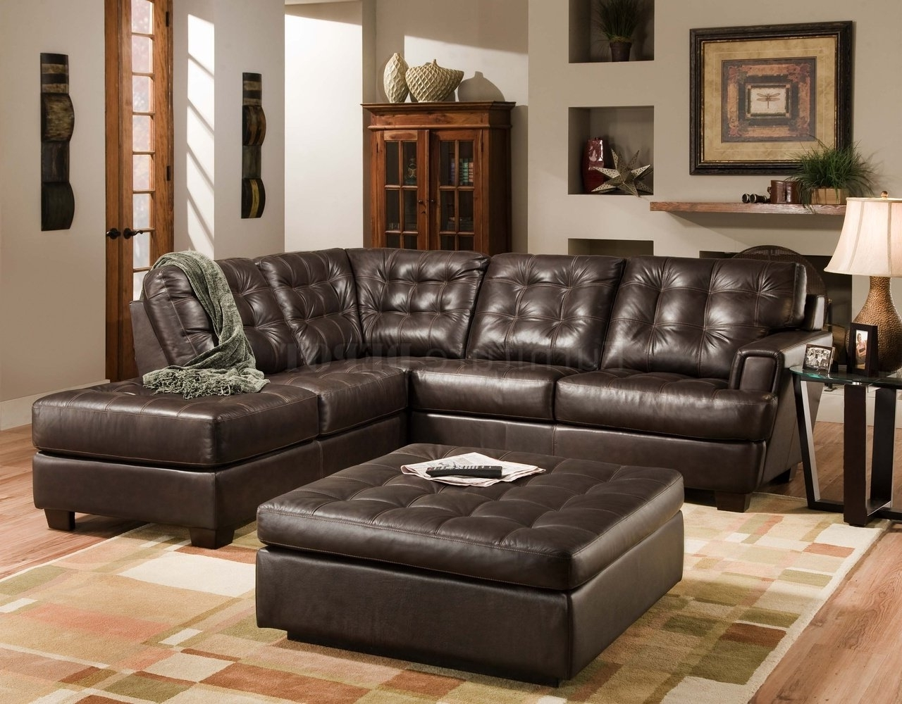 2017 Double Chaise Loveseat Leather Loveseat With Chaise Large Within Brown Sectionals With Chaise (View 1 of 15)