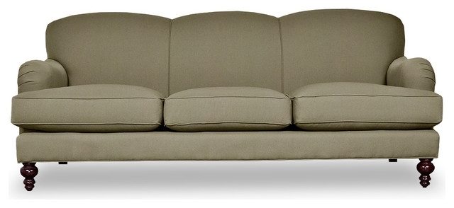 2017 Fabulous Tight Back Leather Sofa Basel Tight Back English Roll Arm With Regard To Traditional Sofas And Chairs (View 5 of 10)