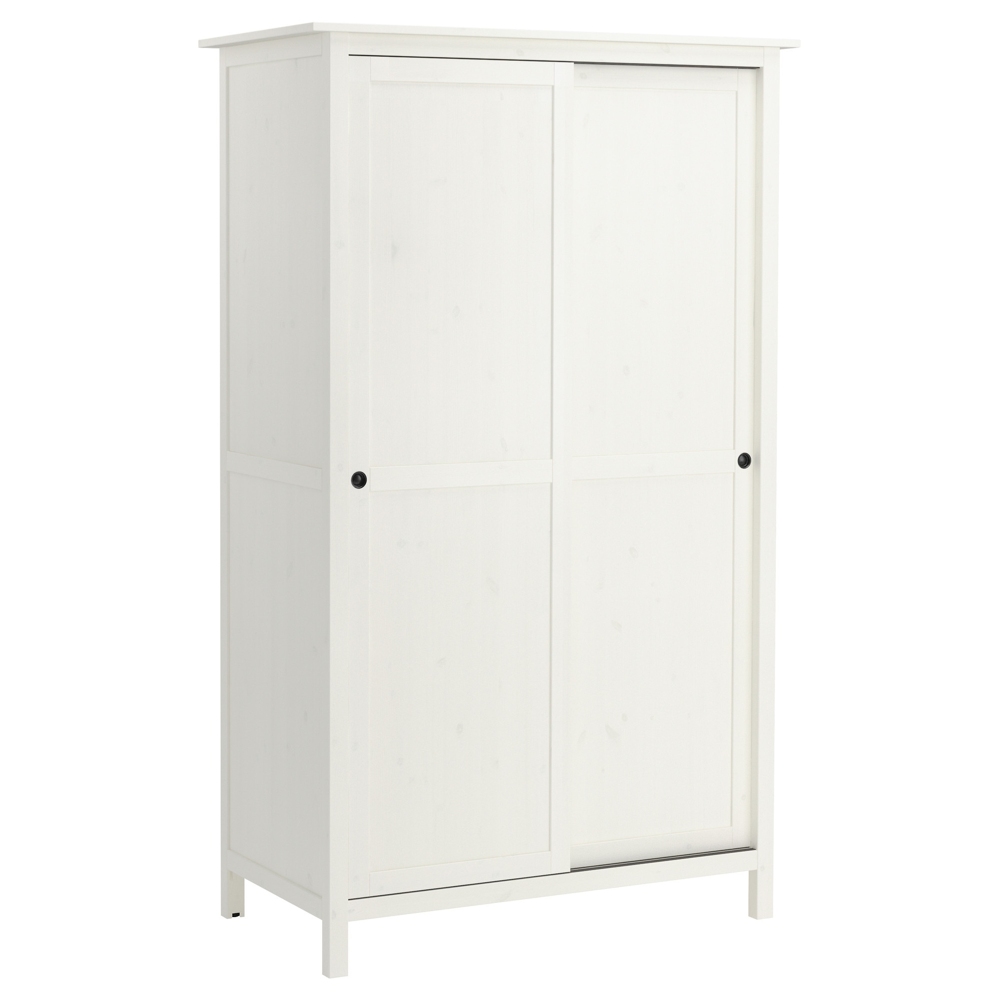 2017 Hemnes Wardrobe With 2 Sliding Doors White Stain 120x197 Cm – Ikea With Regard To White Wooden Wardrobes (View 12 of 15)