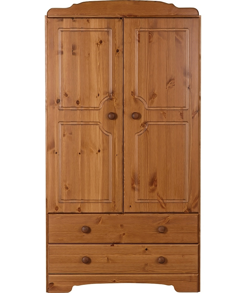 2017 Kids Pine Wardrobes Within Buy Nordic 2 Door 2 Drawer Wardrobe – Pine At Argos.co (View 1 of 15)