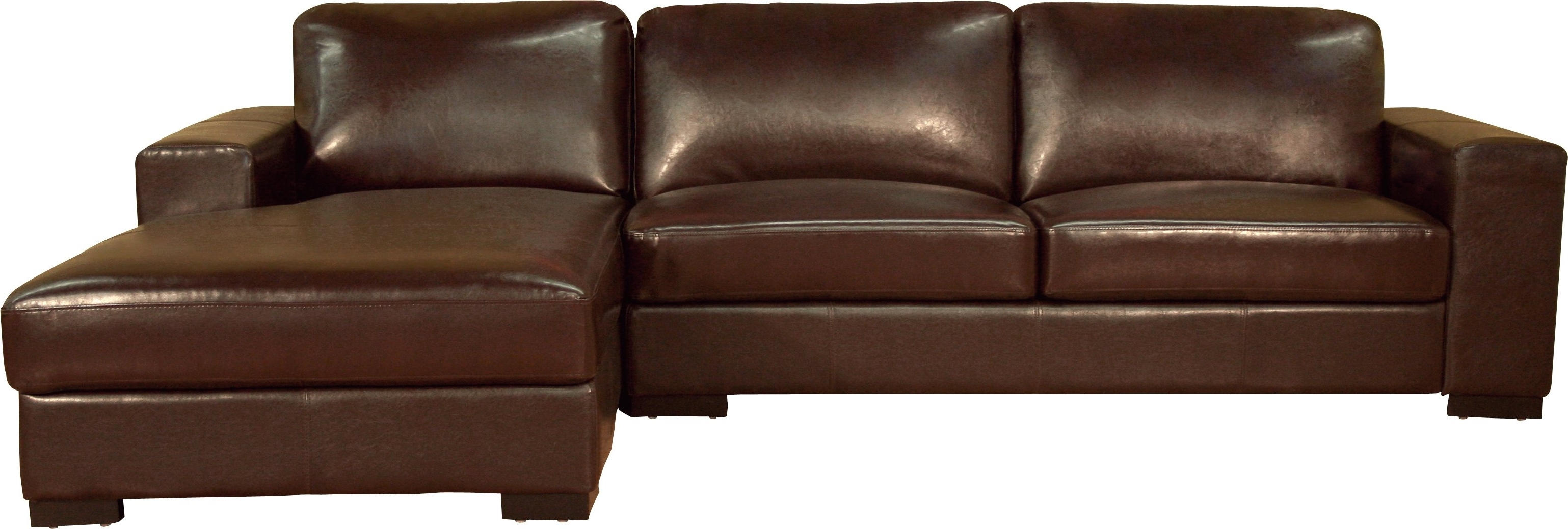 2017 Leather Sofas With Chaise Intended For Tight Brown Leather Sectional Chaise Couch Of Pleasurable Brown (View 10 of 15)