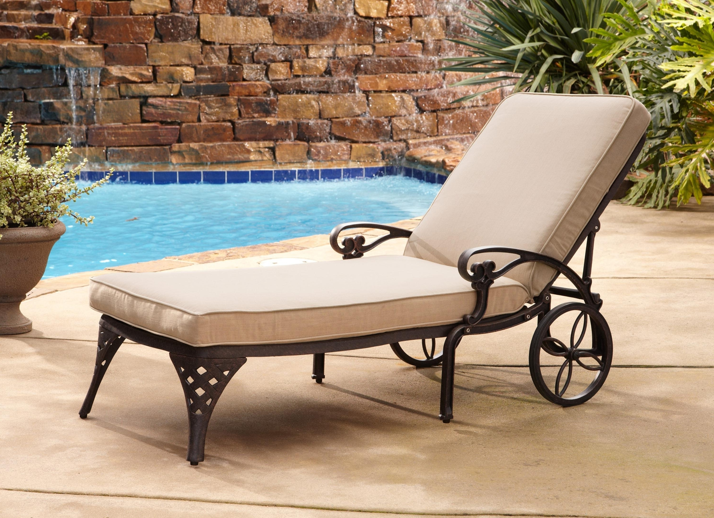 2017 Mathis Brothers Chaise Lounge Chairs With Outdoor Lounge Chairs With Cushions — Bistrodre Porch And (View 2 of 15)