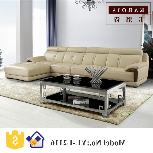 2017 New Design Modern Living Room Furniture Leather Corner Fancy Intended For Well Known Fancy Sofas (View 3 of 10)