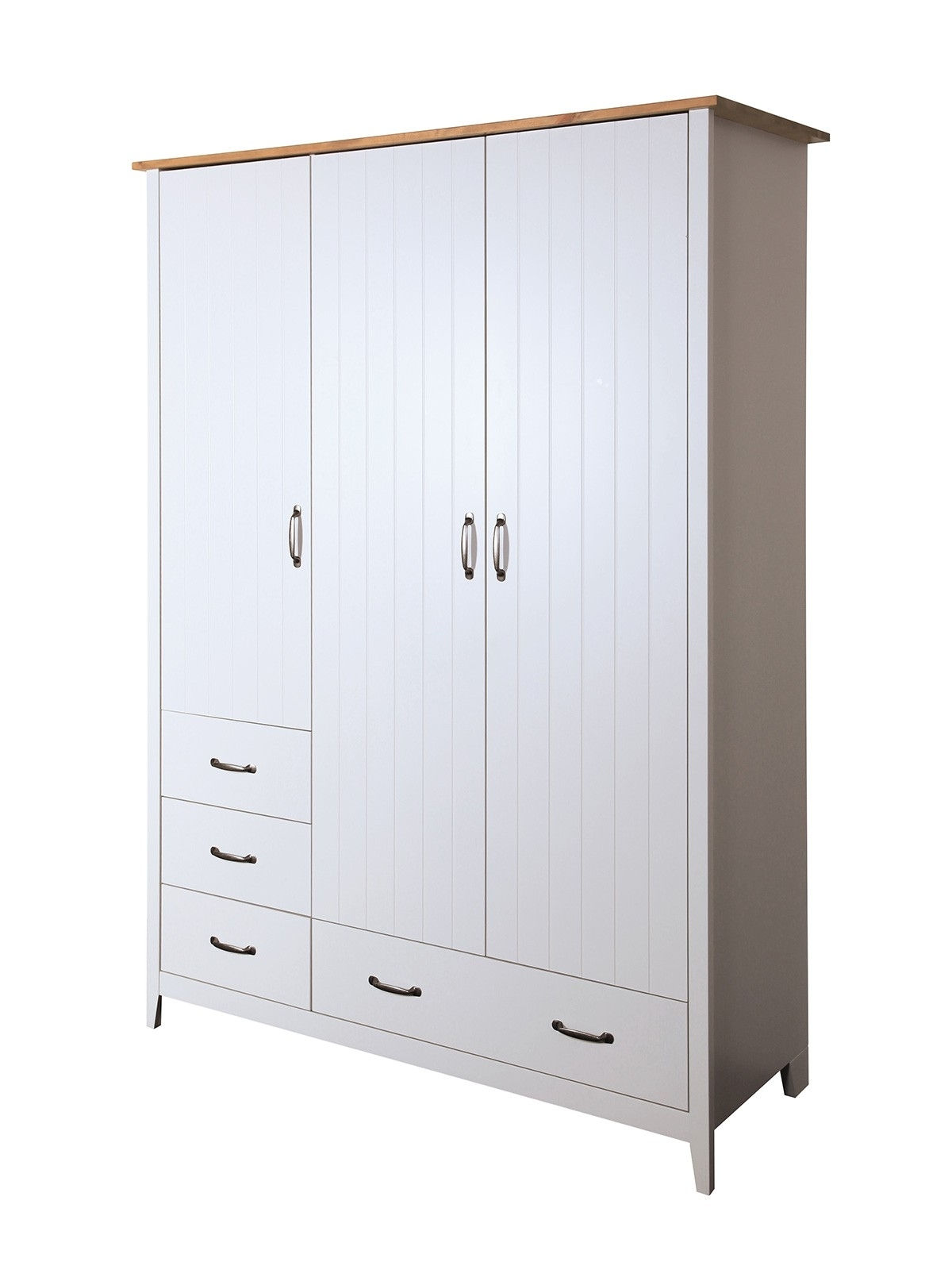 2017 Norfolk 3 Door Wardrobe Grey From The Original Factory Shop With Regard To 3 Door Wardrobes (View 5 of 15)