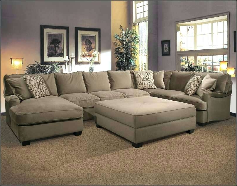 2017 Oversized Sectional Sofas Within Fantastic Oversized Loveseat With  Ottoman Chic Microfiber Large (Gallery 10