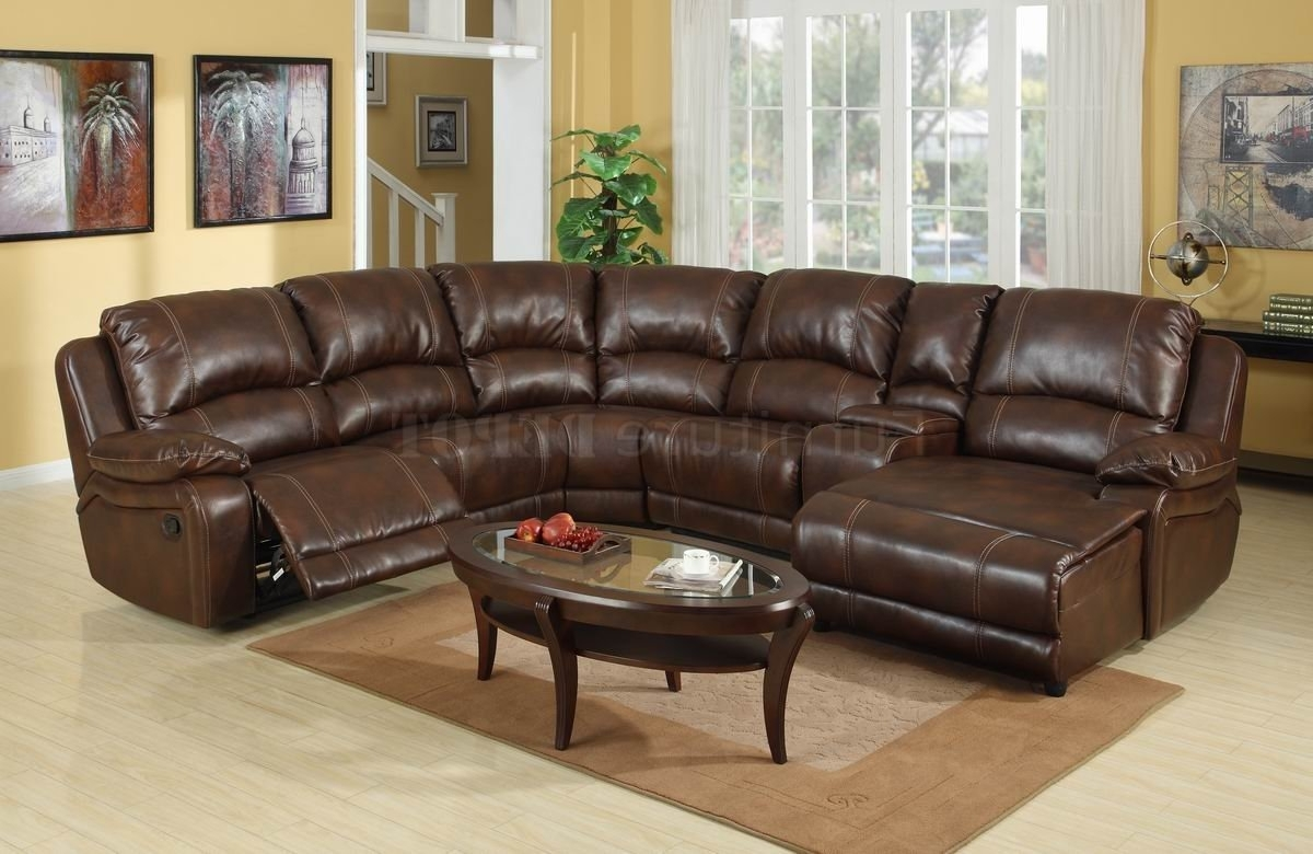 2017 Reclining Sofas With Chaise Within Sectional Sofa Design: Amazing Leather Sectional Sofa Recliner (View 2 of 15)