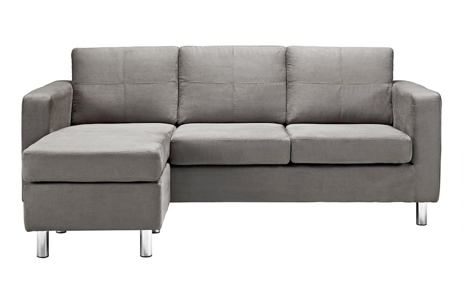 2017 Small Sofas With Chaise Inside Furniture: Pretty Collection Of Microfiber Sectional Sofa (View 11 of 15)