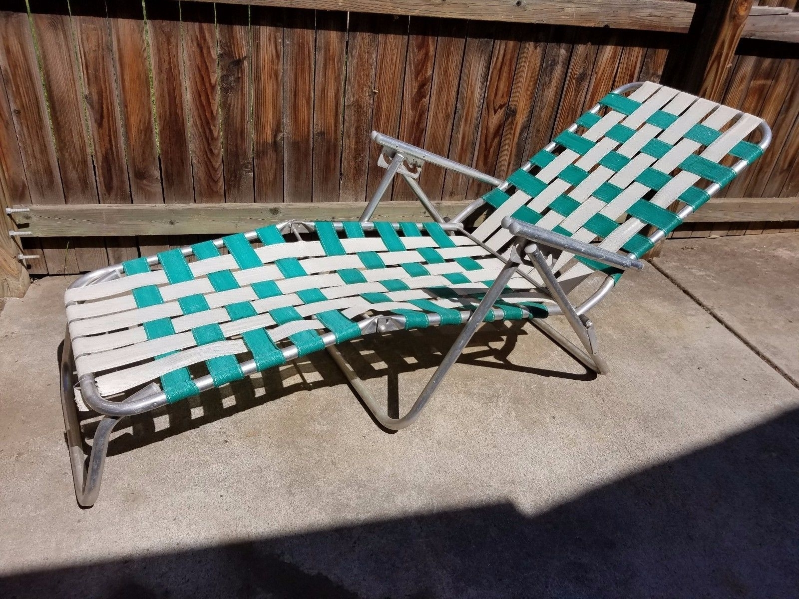 2017 Vintage Outdoor Chaise Lounge Chairs Throughout Vintage Aluminum Lounge Chair • Lounge Chairs Ideas (View 1 of 15)