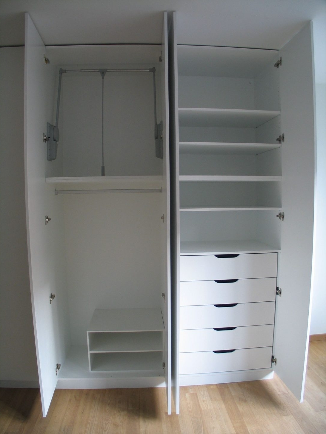 2017 Wardrobe With Drawers Tags : Cupboards For Clothes Furniture With Regard To Tall White Wardrobes (View 1 of 15)