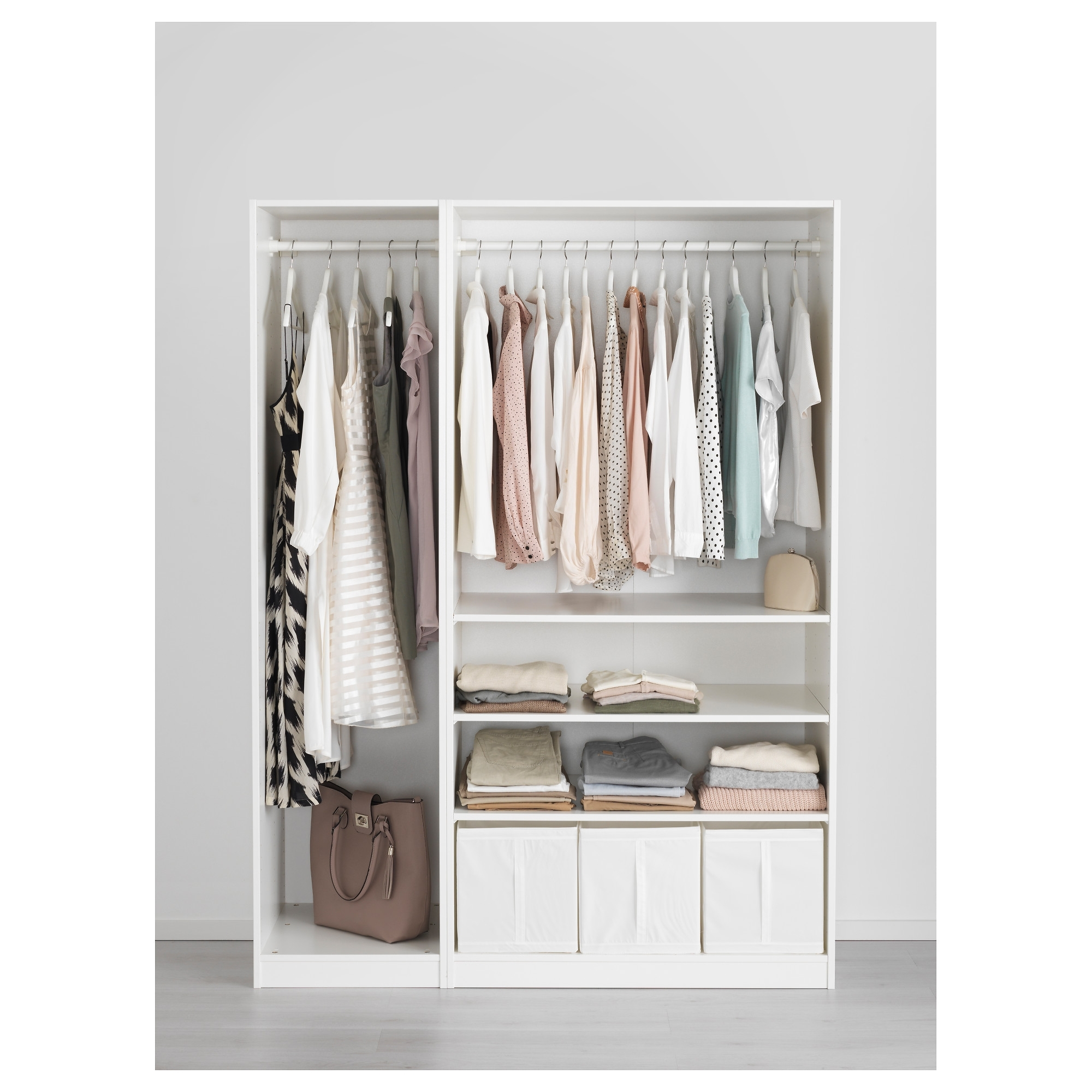 2017 Wardrobes White Gloss With Pax Wardrobe White/fardal High Gloss/light Green 150x60x201 Cm – Ikea (View 7 of 15)