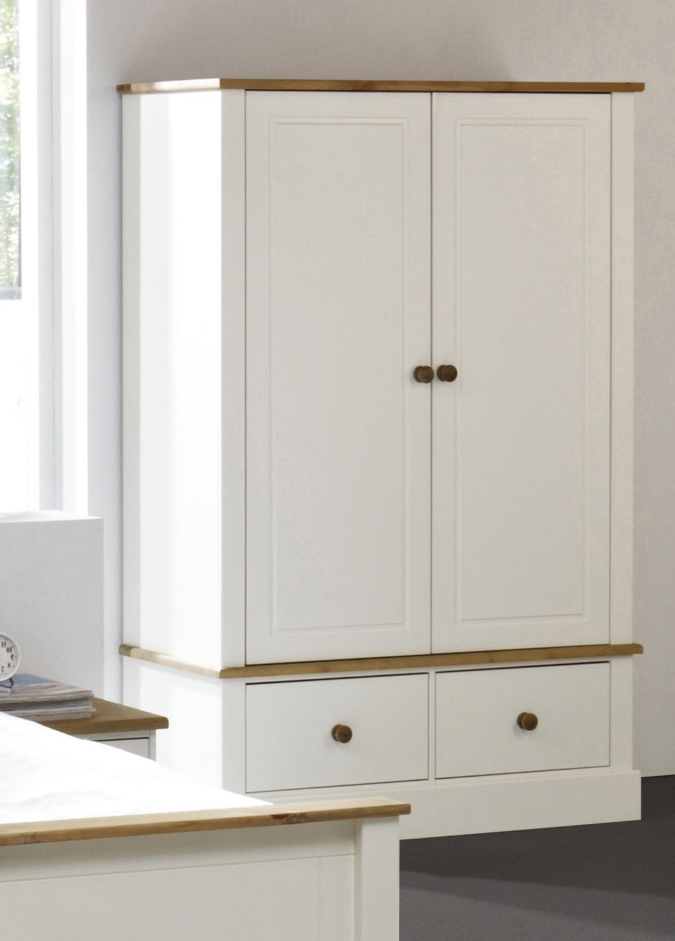 2017 White Wardrobe And Drawers With Mirror Triple Large This Will Be A Intended For White Double Wardrobes With Drawers (View 7 of 15)