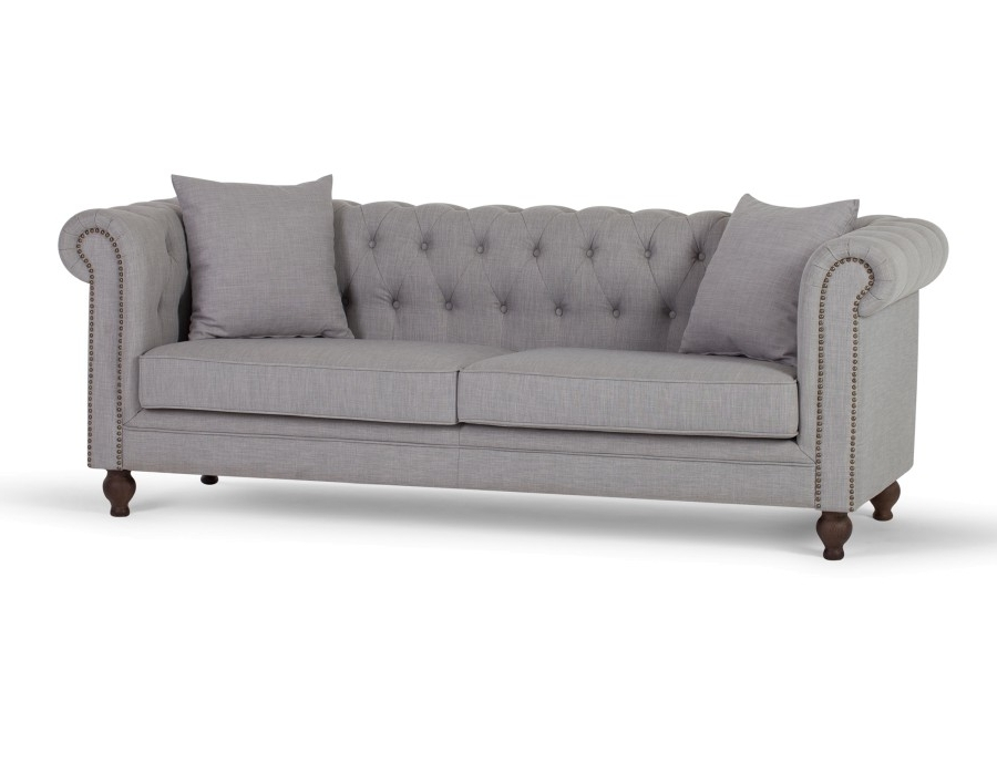 2018 Affordable Tufted Sofas With Arielle 3 Seater Sofa (View 2 of 15)