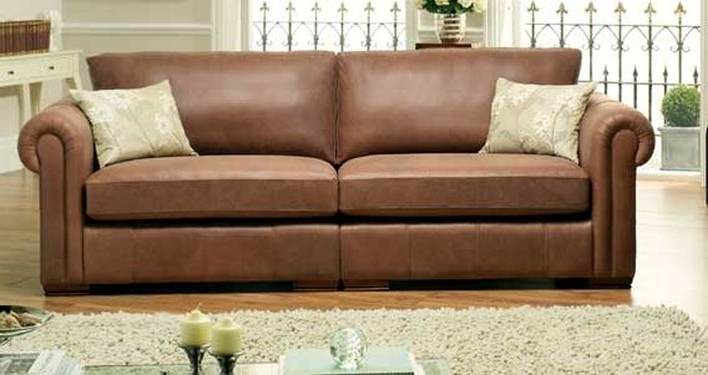 2018 Aspen Leather Sofas For The Pros And Cons Of Leather Furniture (View 3 of 10)