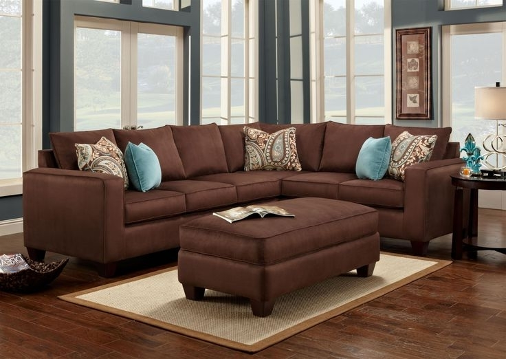 2018 Beautiful Brown Sectional Sofa Decorating Ideas Images Throughout  Chocolate Brown Sectional Sofas (View 1