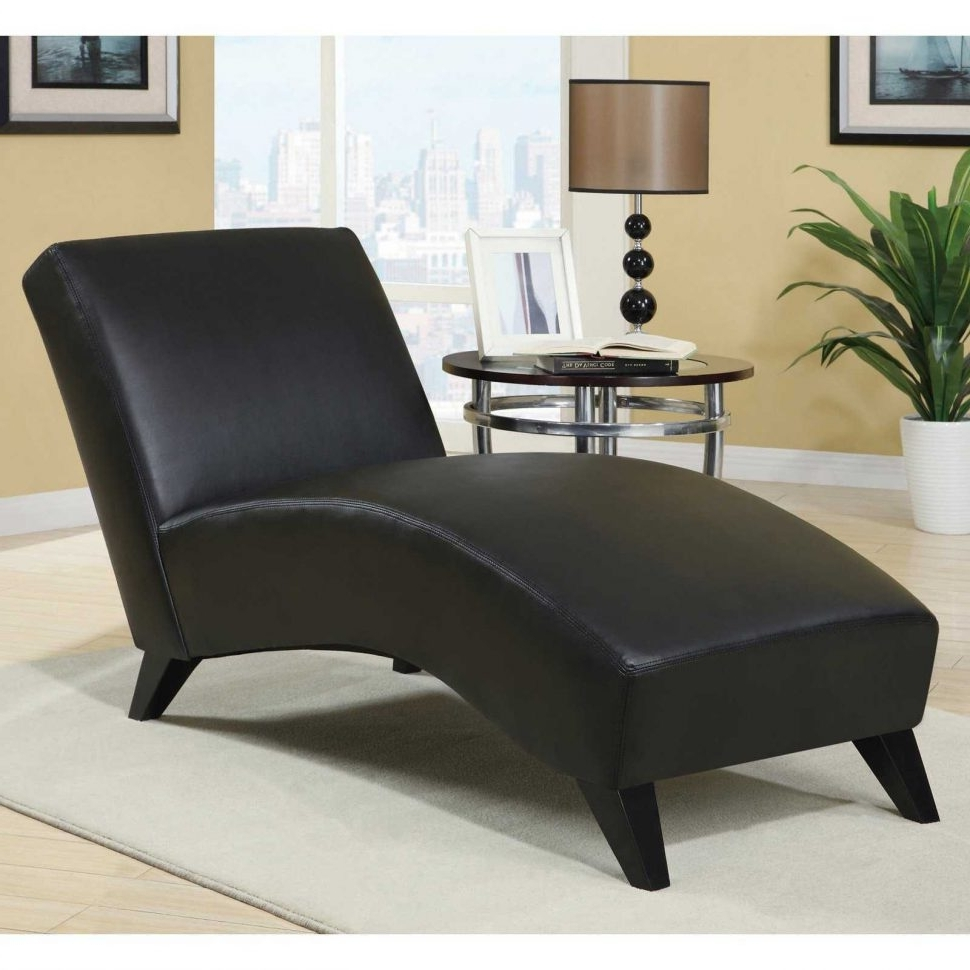 2018 Black Leather Chaise Lounge Chairs With Convertible Chair : Living Room Chaise For Sale Large Oversized (View 2 of 15)