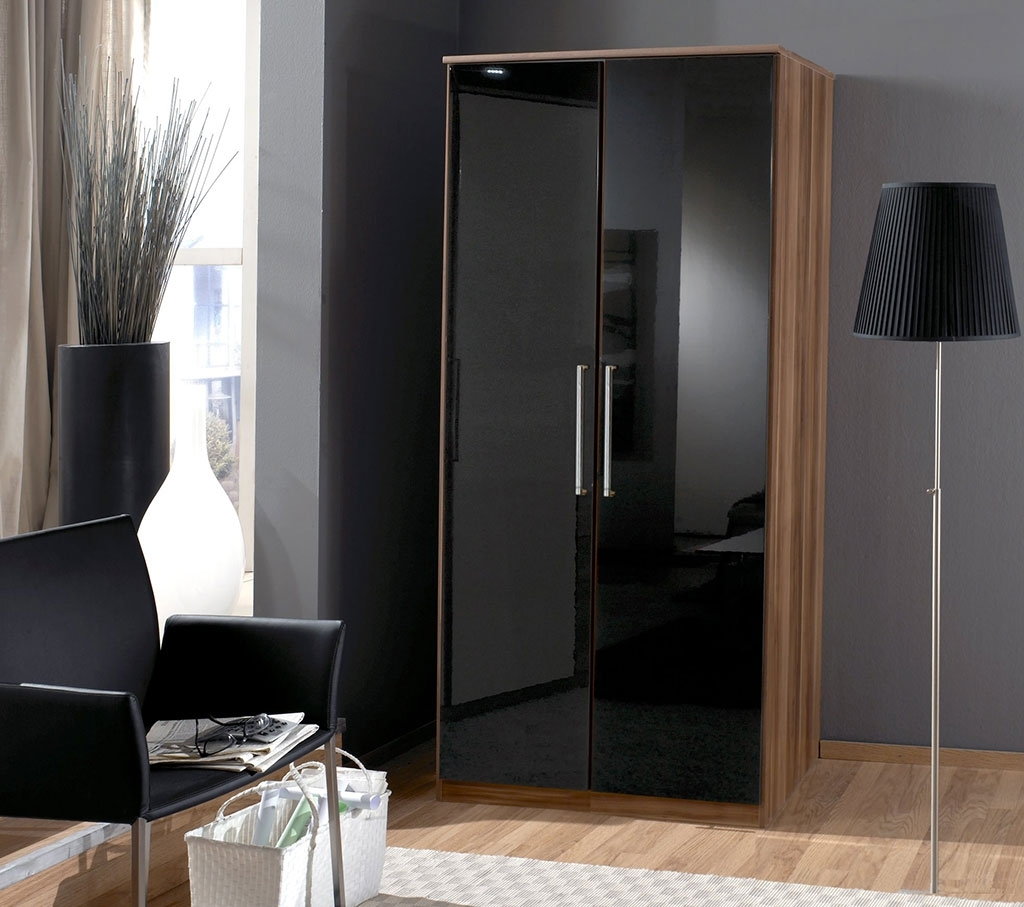 2018 Black Shiny Wardrobes Pertaining To Funky High Gloss Bedroom Furniture Design – Hgnv (View 1 of 15)