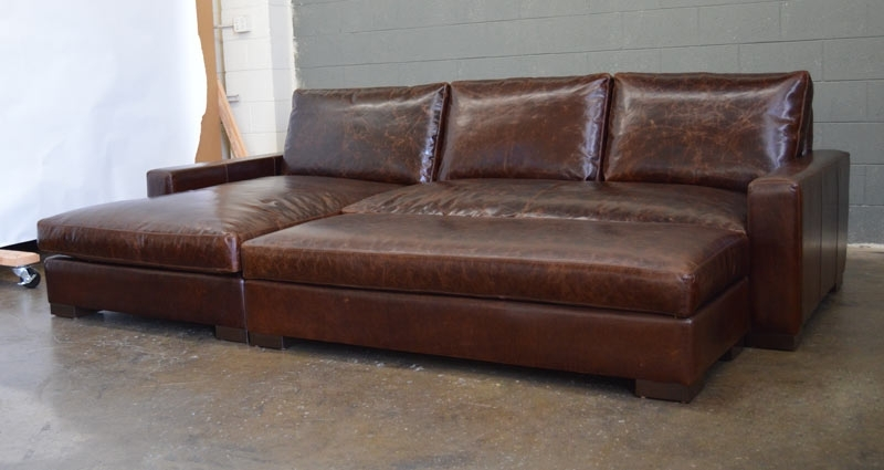 2018 Braxton Sofa Chaise Sectional In Italian Brompton Cocoa (View 5 of 10)