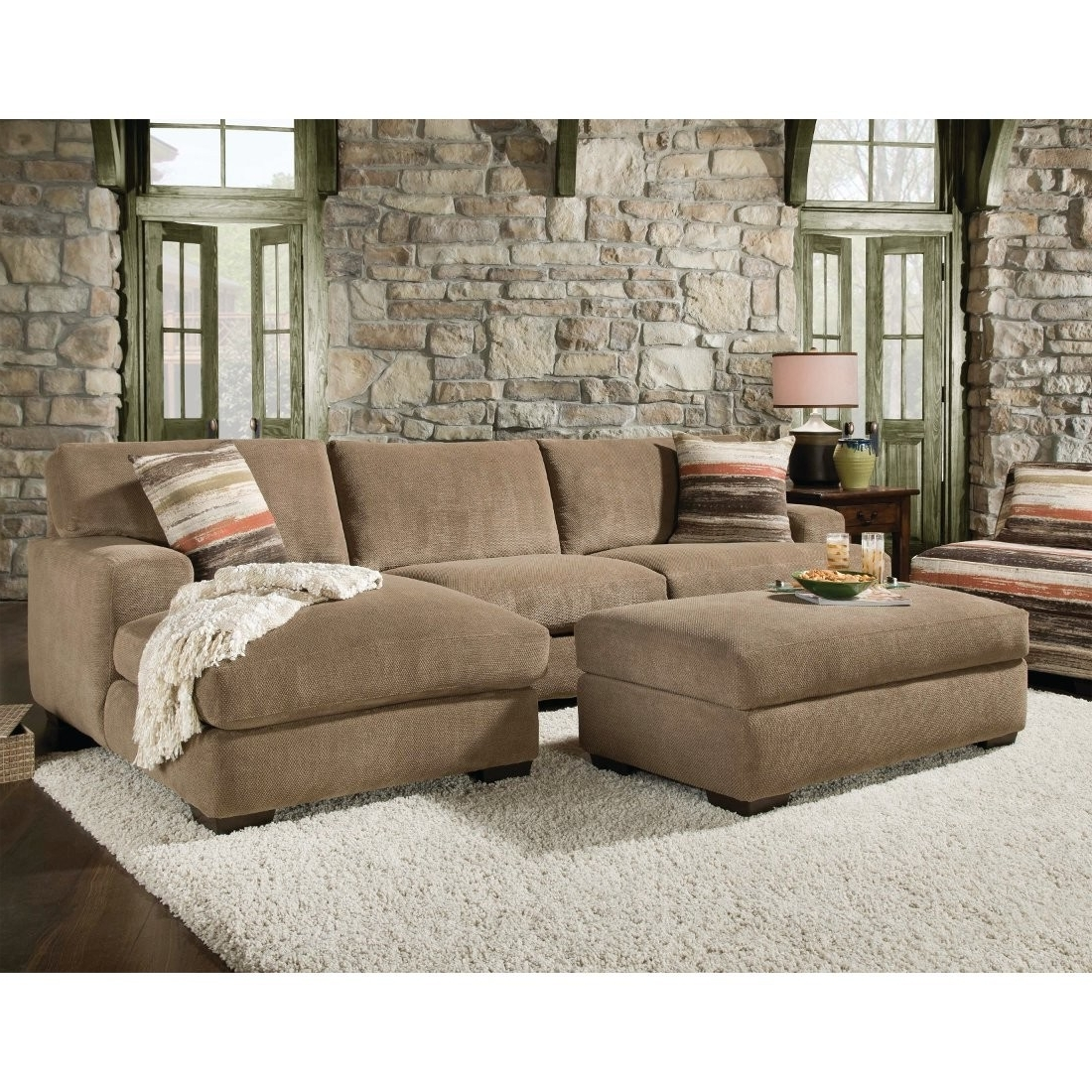 2018 Brown Sectionals With Chaise For Beautiful Sectional Sofa With Chaise And Ottoman Pictures (View 2 of 15)