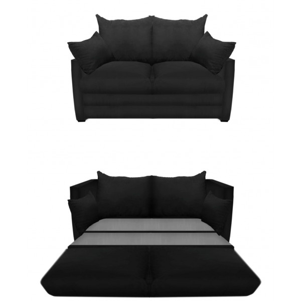 2018 Cheap Black Sofas Inside Sofa Bed Design: Cheap Black Sofa Beds Classic Double Seater Sofa (View 10 of 10)