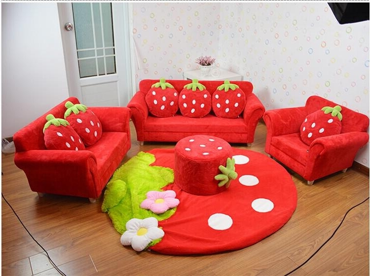 2018 Coral Velvet Children Sofa Chairs Cushion Furniture Set Cute Pertaining To Widely Used Cheap Kids Sofas (View 9 of 10)