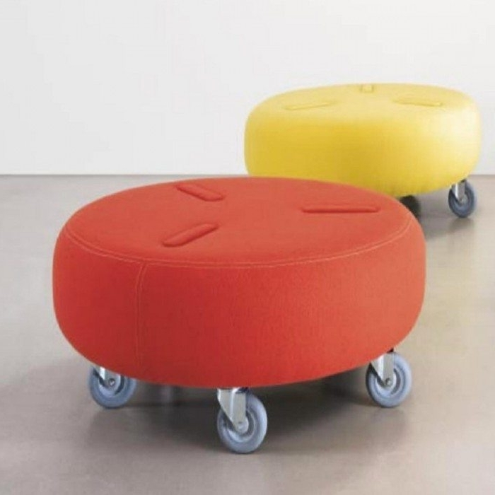 2018 Creative Of Ottoman With Wheels Bench Ottoman With Wheels With Regarding Ottomans With Wheels (View 3 of 10)