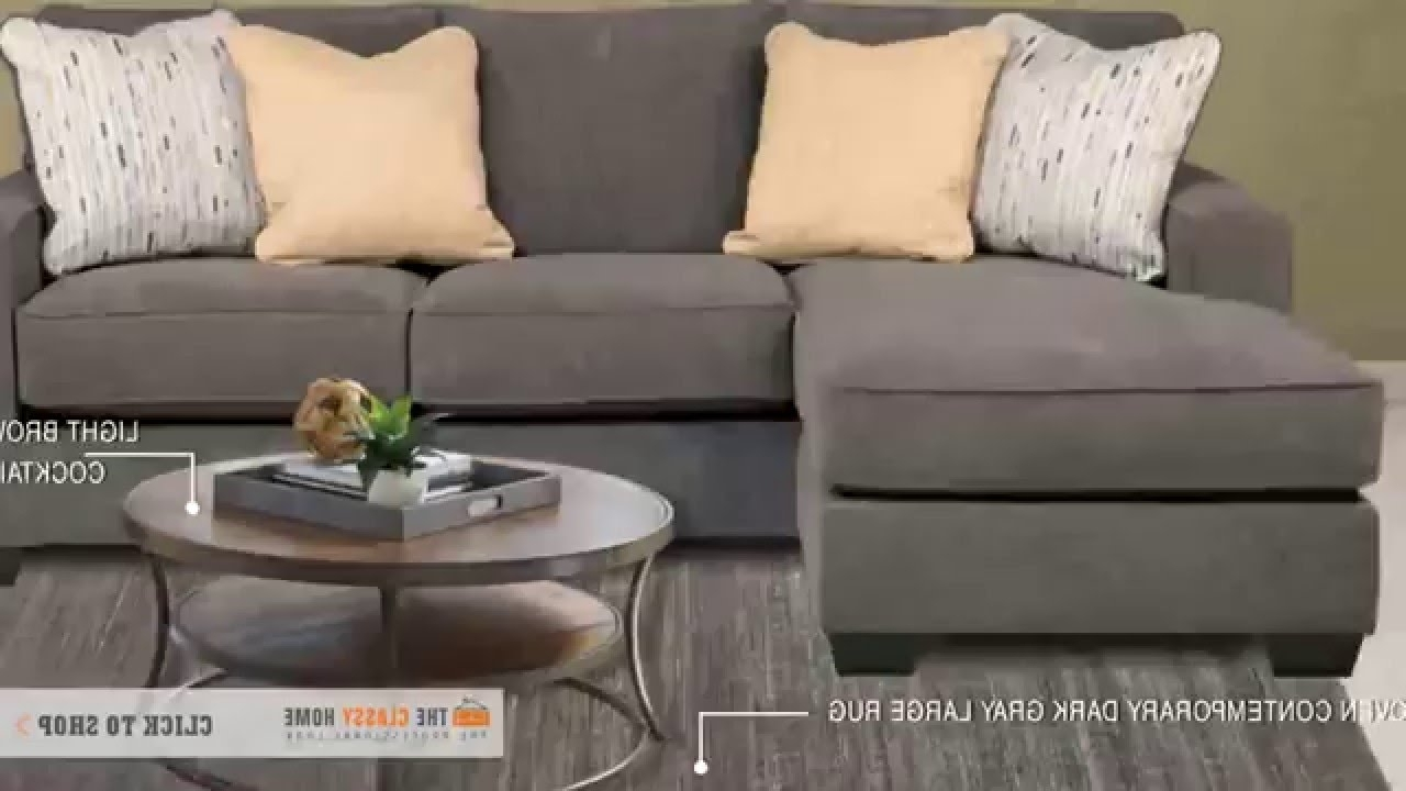 2018 Decor Small Living Room With Hodan Marble Sofa Chaise From Ashley Regarding Hodan Sofas With Chaise (View 5 of 15)