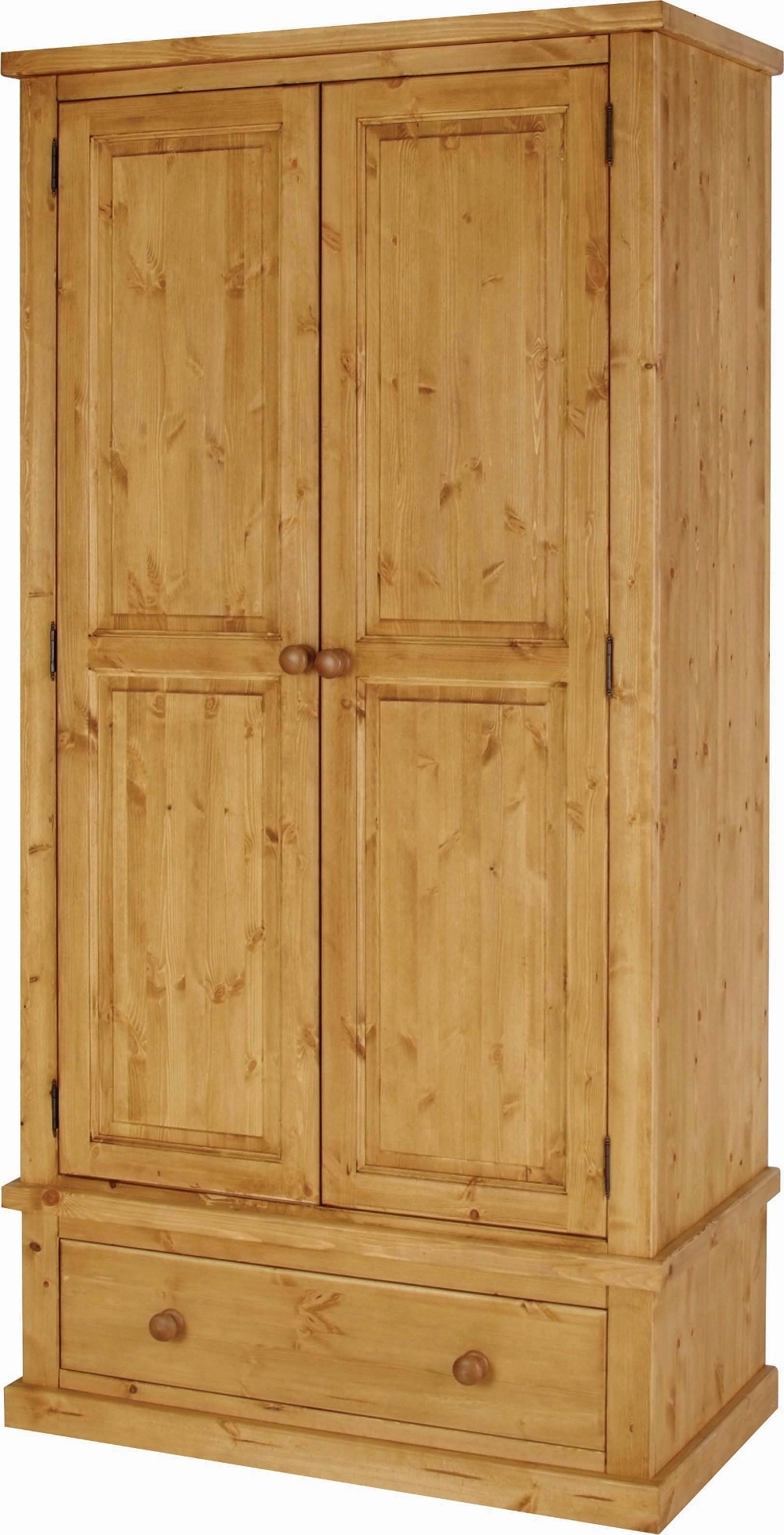 2018 Double Pine Wardrobes For Large Pine Wardrobe With Drawers • Drawer Furniture (View 1 of 15)
