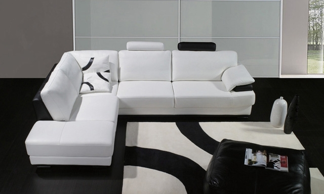 2018 Free Shipping 2013 European Modern Design Living Room Furniture Intended For White Leather Corner Sofas (View 10 of 10)