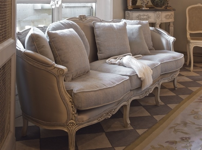 2018 French Style Sofas For French Style Sofa In Linen Fabric Decorating Ideas Gray Decor (View 1 of 10)
