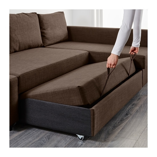 2018 Friheten Corner Sofa Bed With Storage Skiftebo Brown – Ikea Regarding Ikea Corner Sofas With Storage (View 1 of 10)