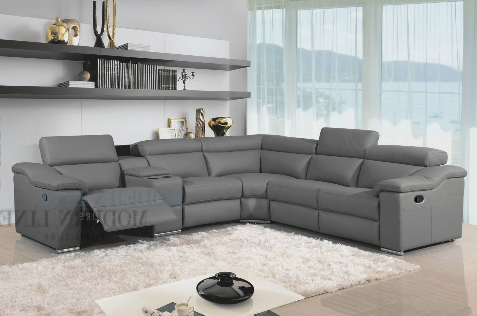 2018 Gray Sectional Sofas With Chaise Pertaining To Sectional Sofa Design: Grey Leather Sectional Sofa Chaise (View 10 of 15)