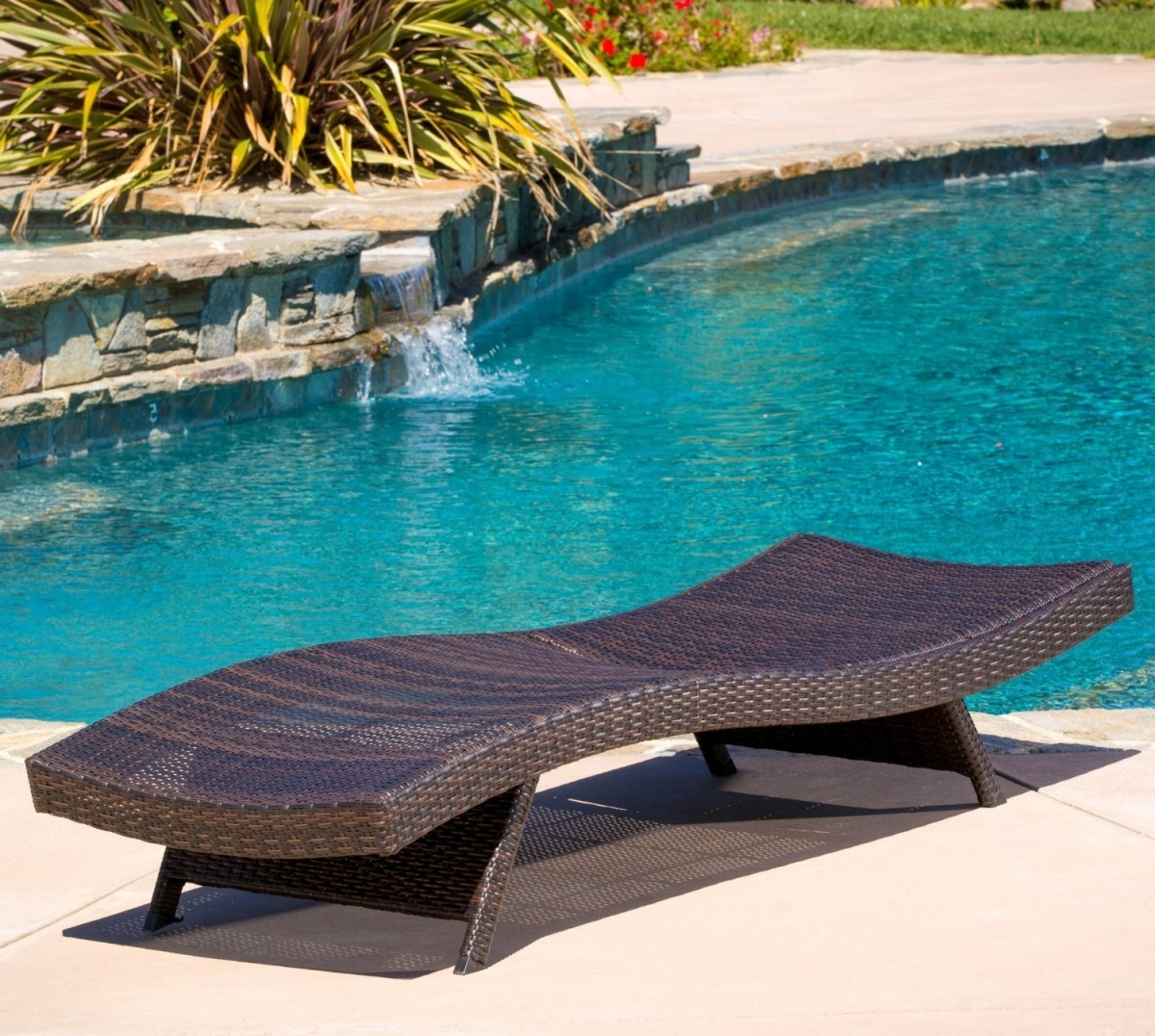 2018 Keter Chaise Lounges Throughout Folding Wicker Outdoor Chaise Lounge Chair (View 2 of 15)