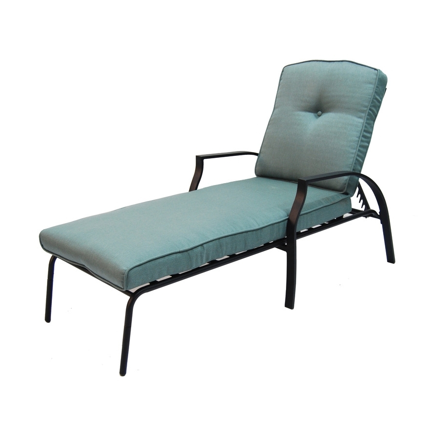 2018 Lowes Chaise Lounges With Regard To Shop Garden Treasures Cascade Creek Black Steel Patio Chaise (View 15 of 15)