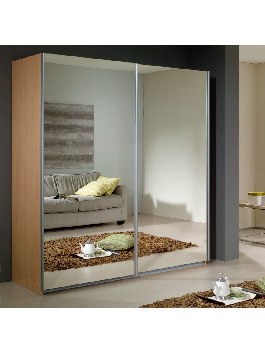 2018 Rauch Sliding Wardrobes Throughout Dover Sliding Door Wardrobe With 2 Mirrors – Rauch Furniture (View 2 of 15)