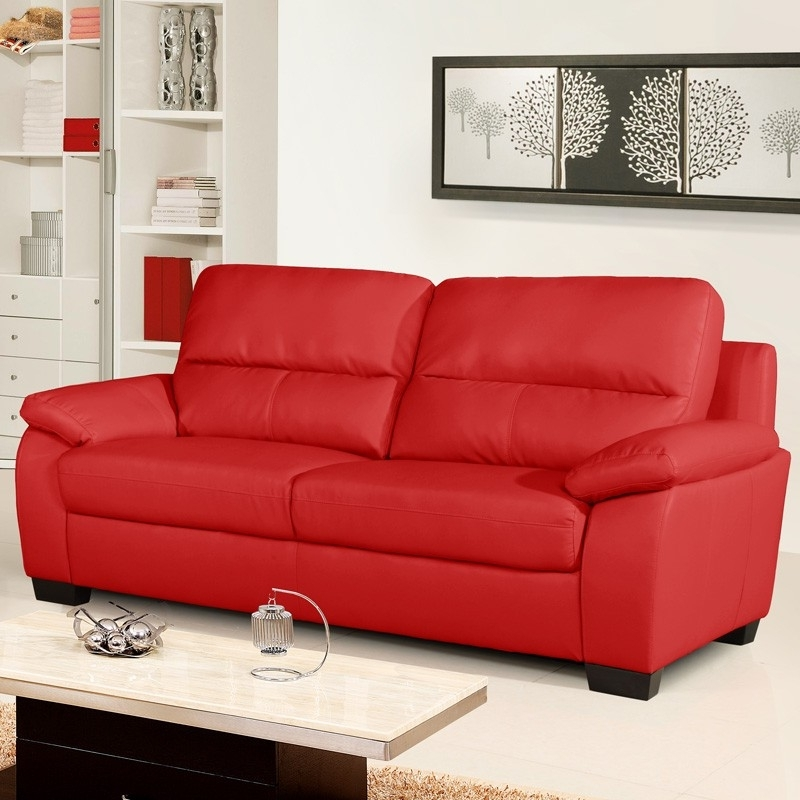 set sydney design red couch modern couches leather sofa