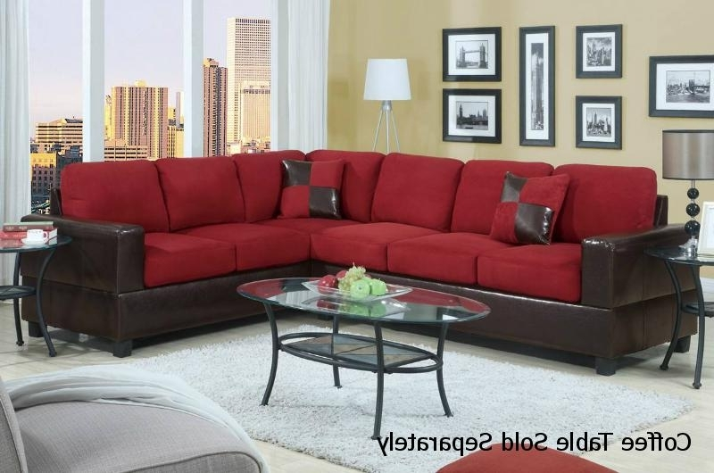 2018 Red Leather Sectional Sofa – Steal A Sofa Furniture Outlet Los Within Red Leather Sectional Couches (View 1 of 10)