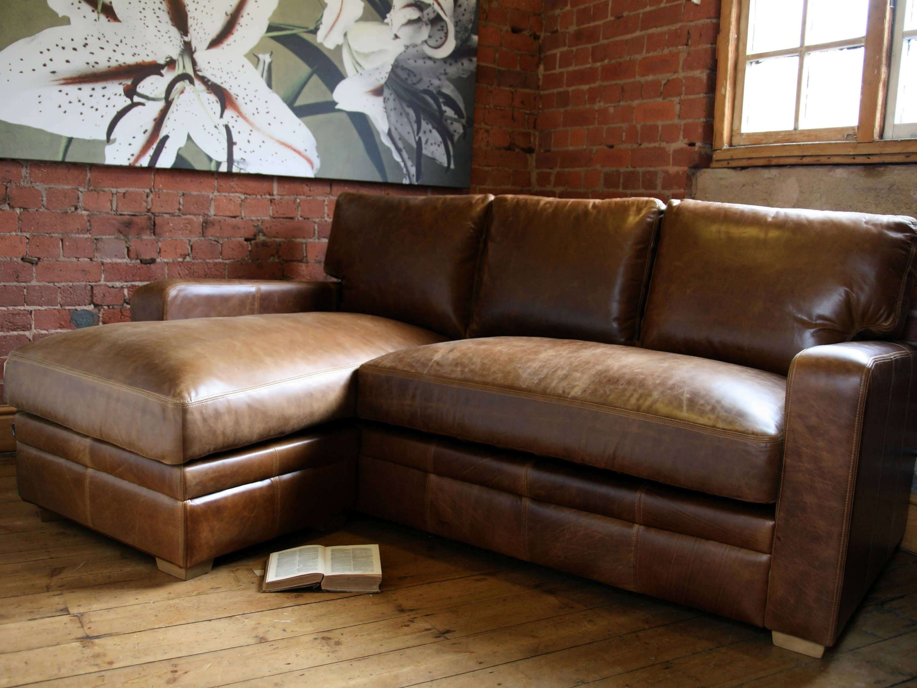 2018 Sofa : Brown Leather Sectional Red Sectional Sofa White Sectional With Brown Leather Chaise Lounges (View 14 of 15)