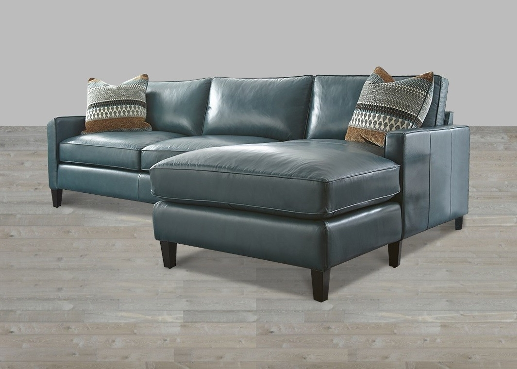 2018 Turquoise Leather Sectional With Chaise Lounge Throughout Sectionals With Chaise (View 1 of 15)