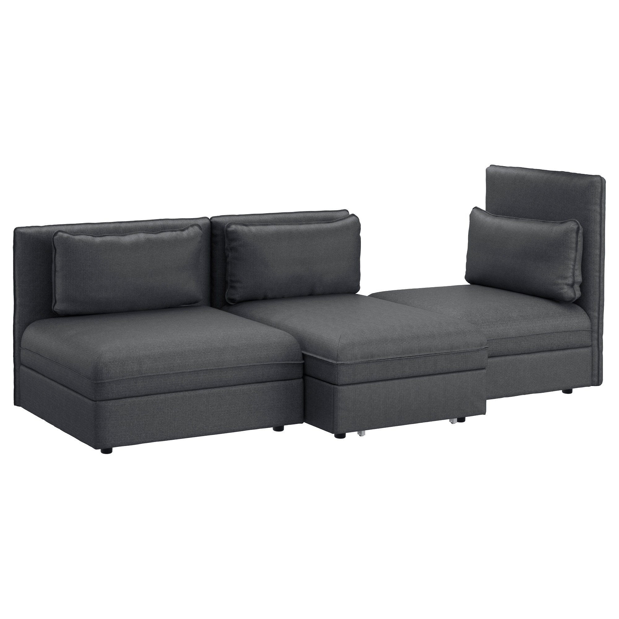 2018 Vallentuna Sleeper Sectional, 3 Seat – Hillared Green – Ikea Pertaining To Ikea Sofa Beds With Chaise (View 2 of 15)