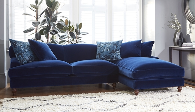 2018 Velvet Sofas Regarding Navy Velvet Sofa Uk Www Energywarden Net Inside Blue Inspirations (View 8 of 10)