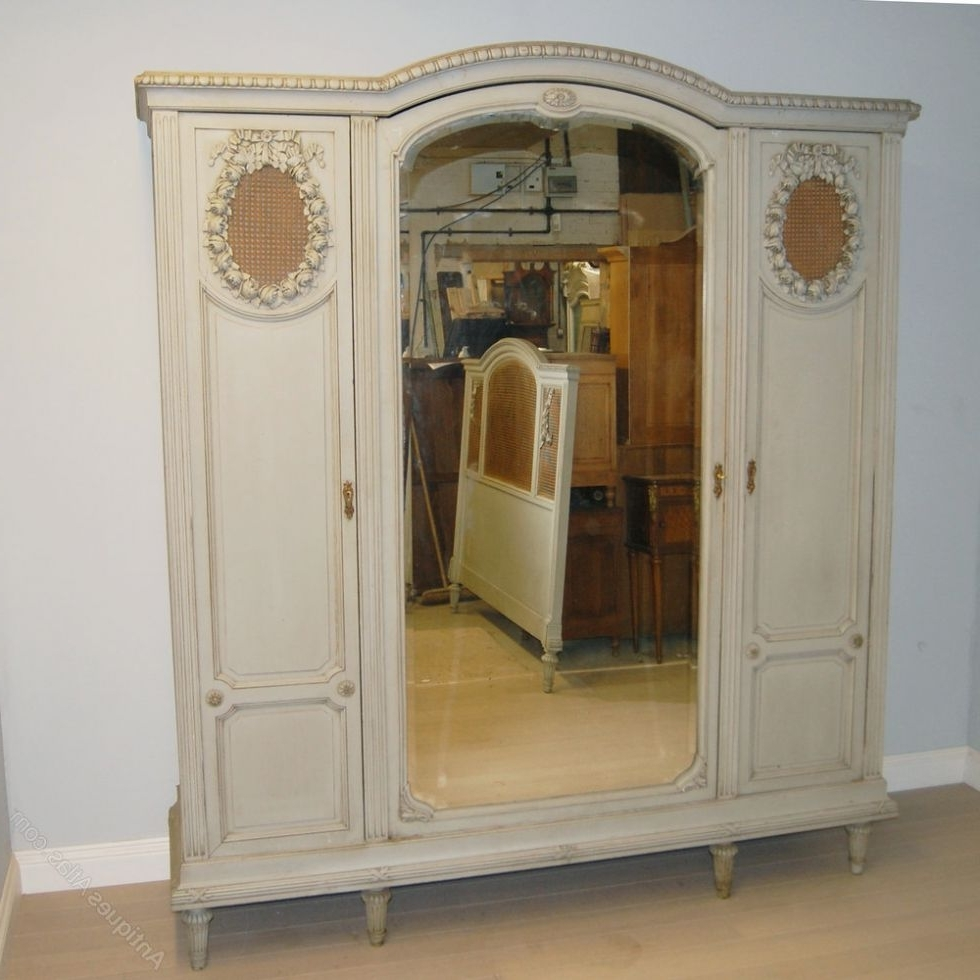 3 Door French Wardrobes Intended For Most Current Beautiful 3 Door Armoire Wardrobe #2 French 3 Door Painted Armoire (Gallery 3 of 15)