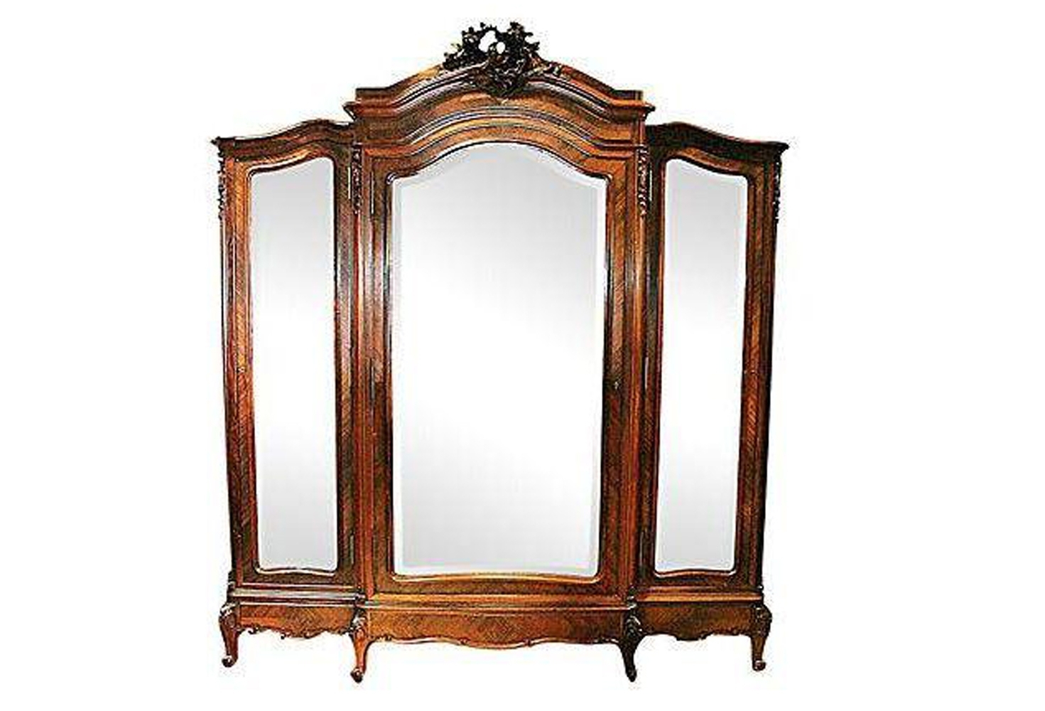 3 Door French Wardrobes Regarding Current Antique French Rosewood 3 Door Armoire (View 2 of 15)