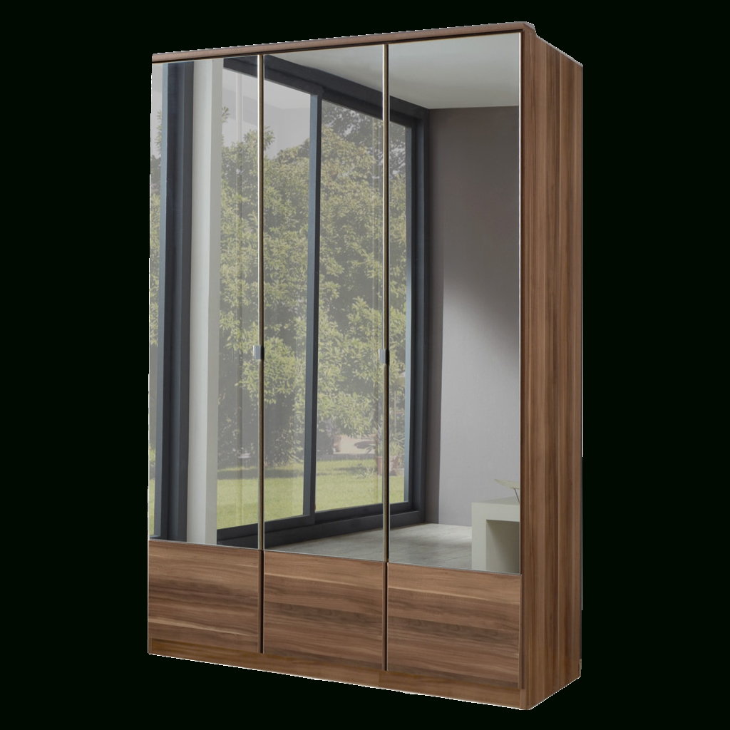 3 Door Mirrored Wardrobes For Latest Imago Walnut 3 Door Mirrored Wardrobe (View 3 of 15)