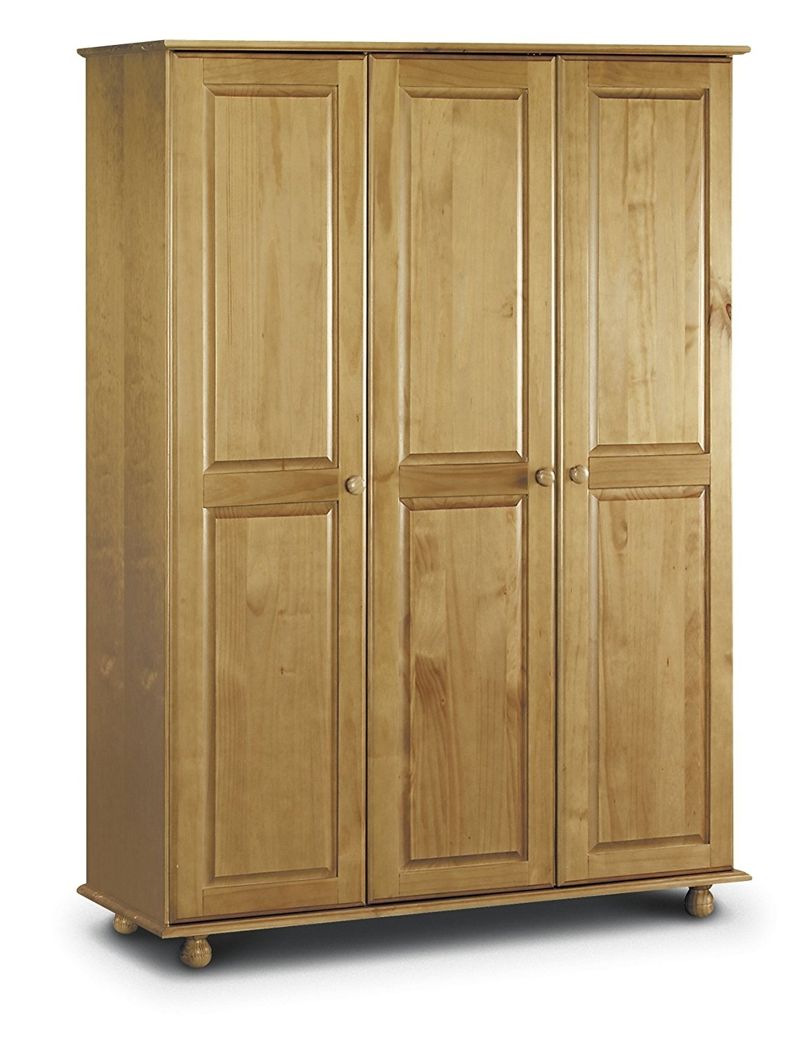 3 Door Pine Wardrobes Pertaining To Fashionable Julian Bowen Pickwick 3 Door All Hanging Pine Wardrobe: Amazon (View 1 of 15)