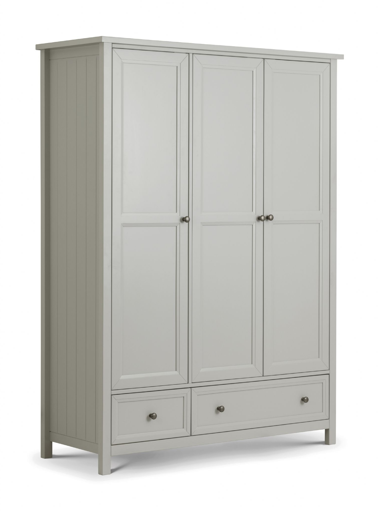 3 Door Wardrobes Regarding Popular Legnano Dove Grey Lacquered Finish 3 Door Wardrobe Jb (View 15 of 15)