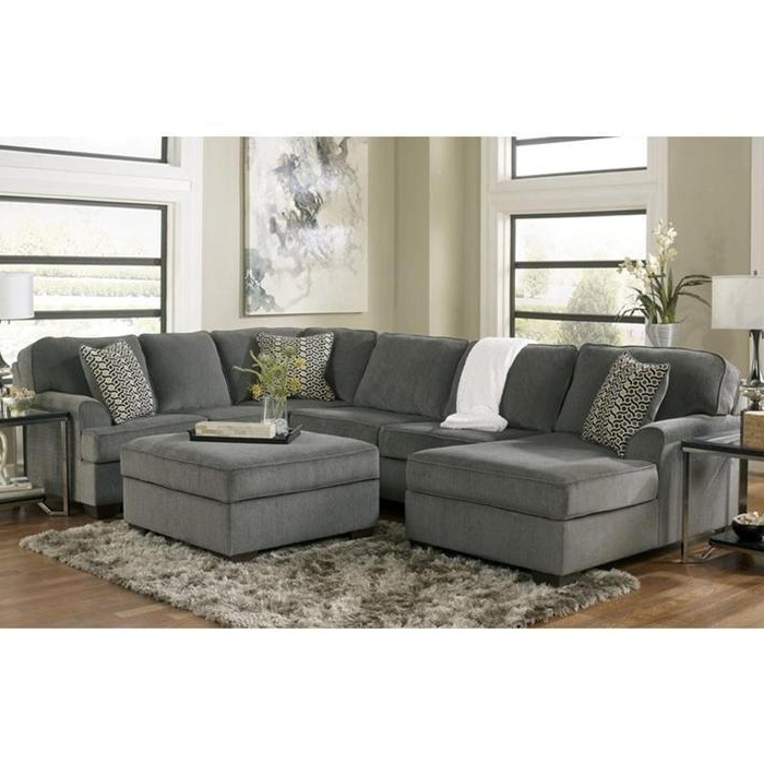 3 Piece Sectional And Ottoman In Loric Smoke (View 3 of 10)