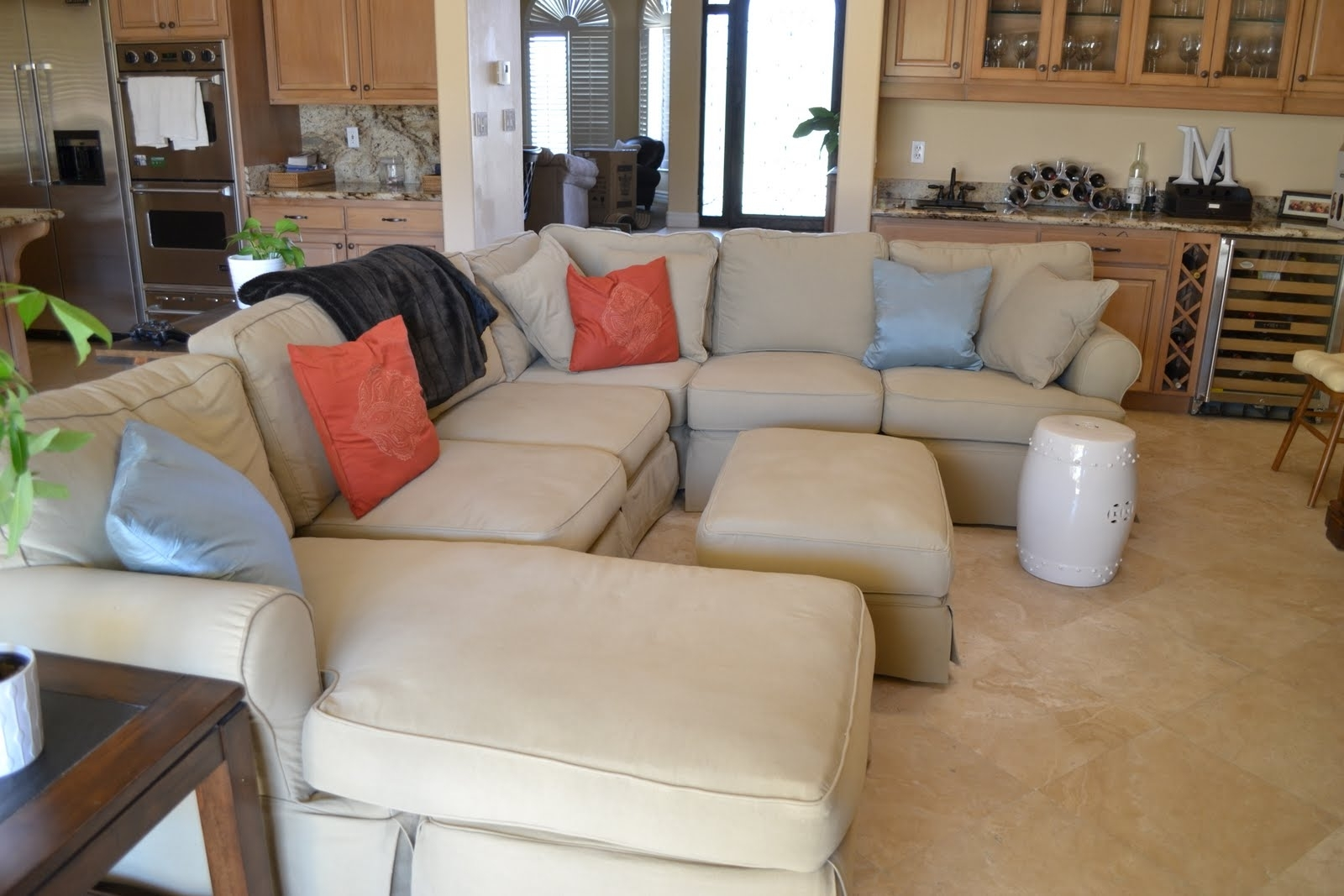 3 Piece Sectional Slipcovers — Cabinets, Beds, Sofas And Within Latest Slipcovered Sofas With Chaise (View 9 of 15)