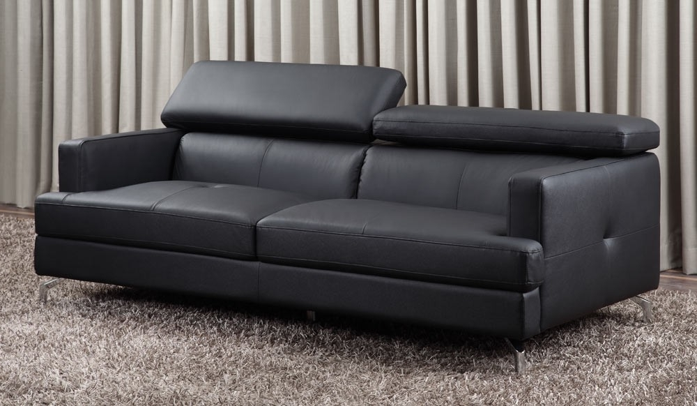 3 Seater Leather Sofas With Favorite Renzo Small Leather Sofa (Top Grain 3 Seater With Adjustable (Gallery 4 of 15)